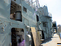 ex HMAS Canberra starboard access holes